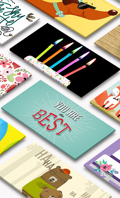 Gift Card Production – An image of gift card packaging mockups.