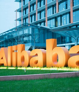 Fintech Insights – Alibaba signage and office building.