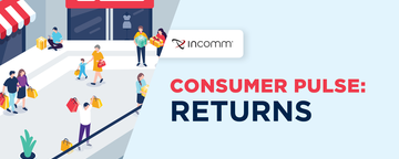 News – An illustration for the InComm Consumer Pulse: Returns report of consumers shopping at a mall.